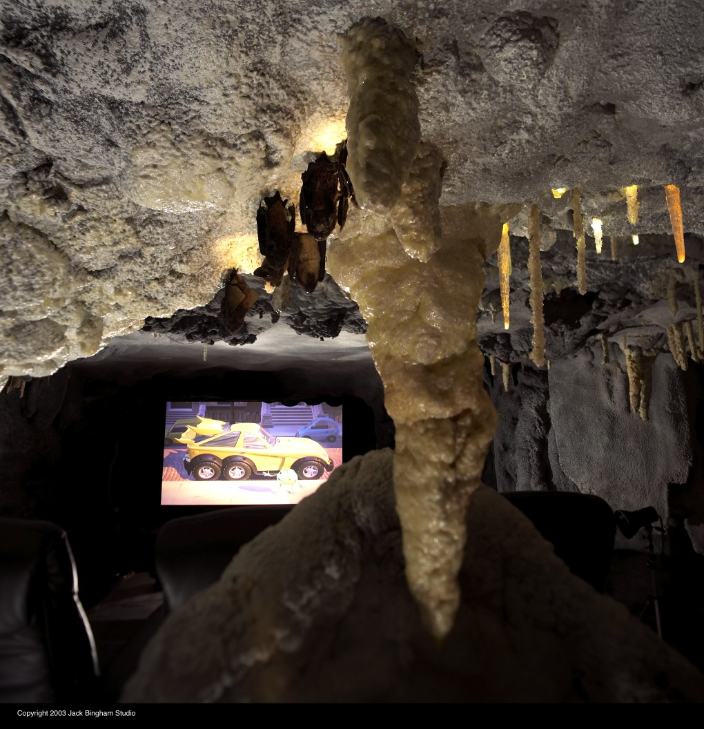 Bat Cave Themed Home Theater
