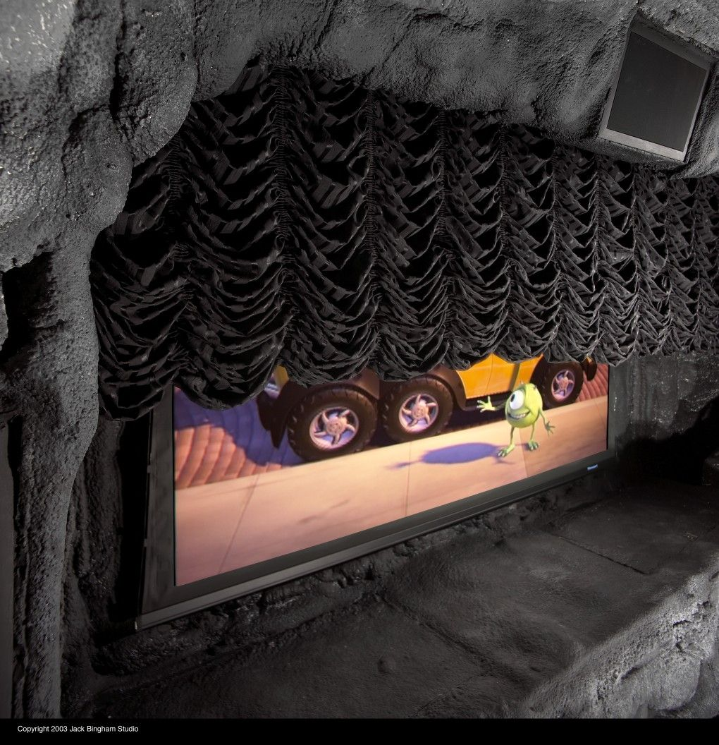Batcave theater front view