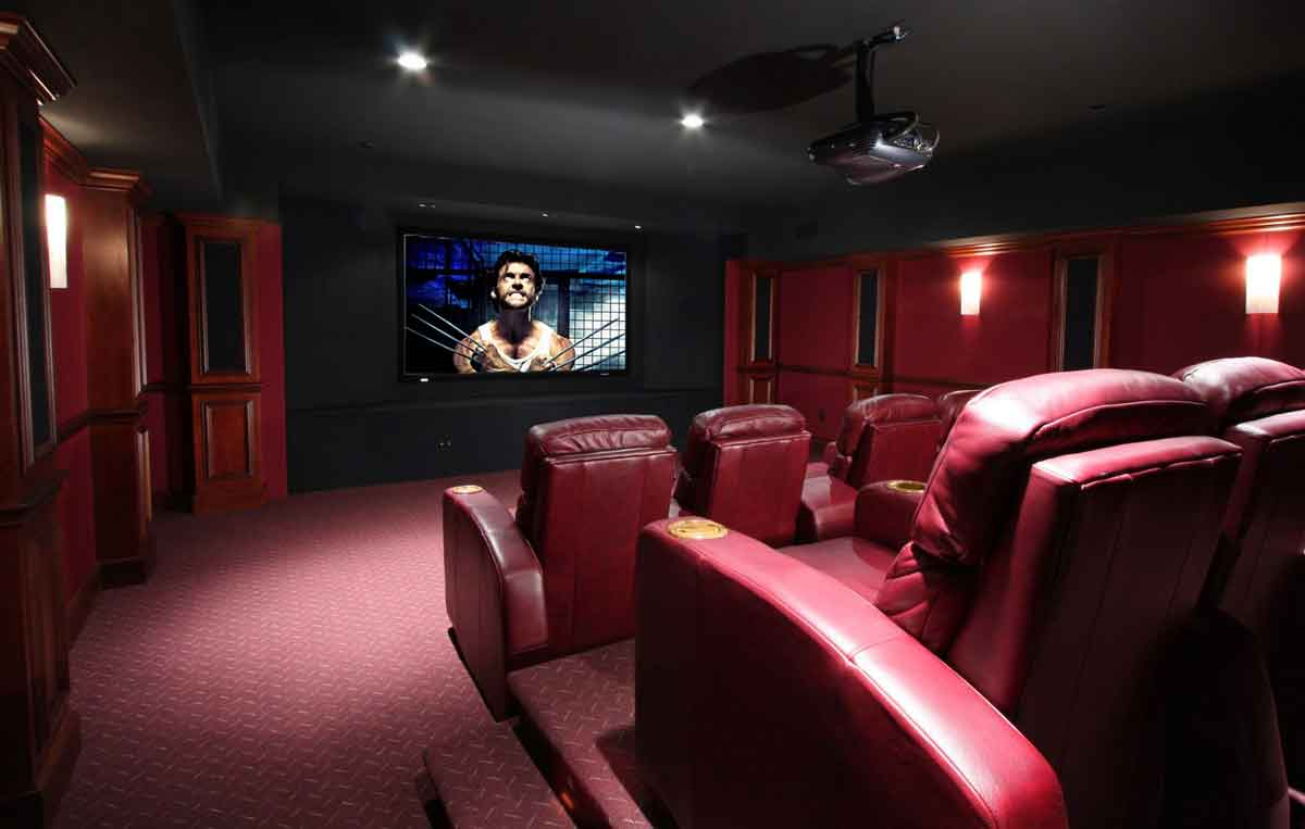 smart home system custom home theater