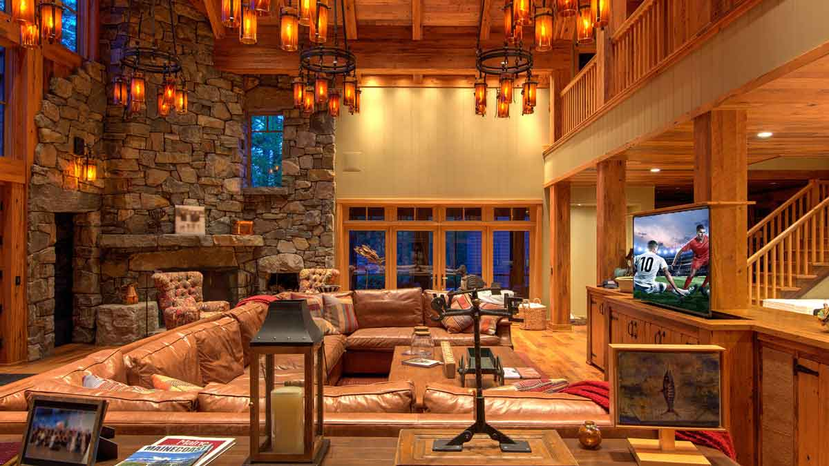 Smart home system lakeside retreat