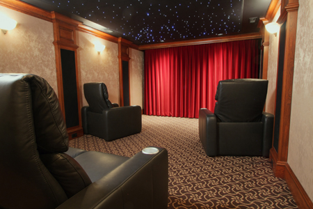 custom home theater with great details