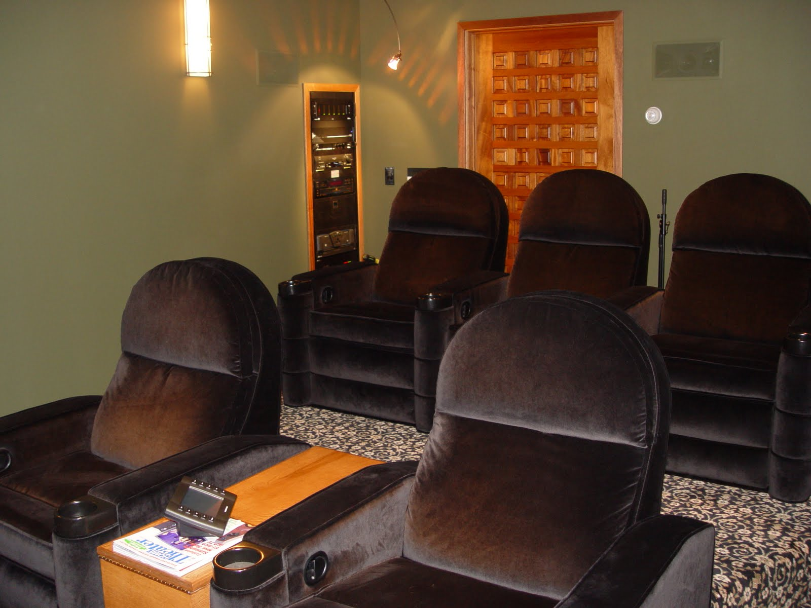 home theater with incredible surround sound